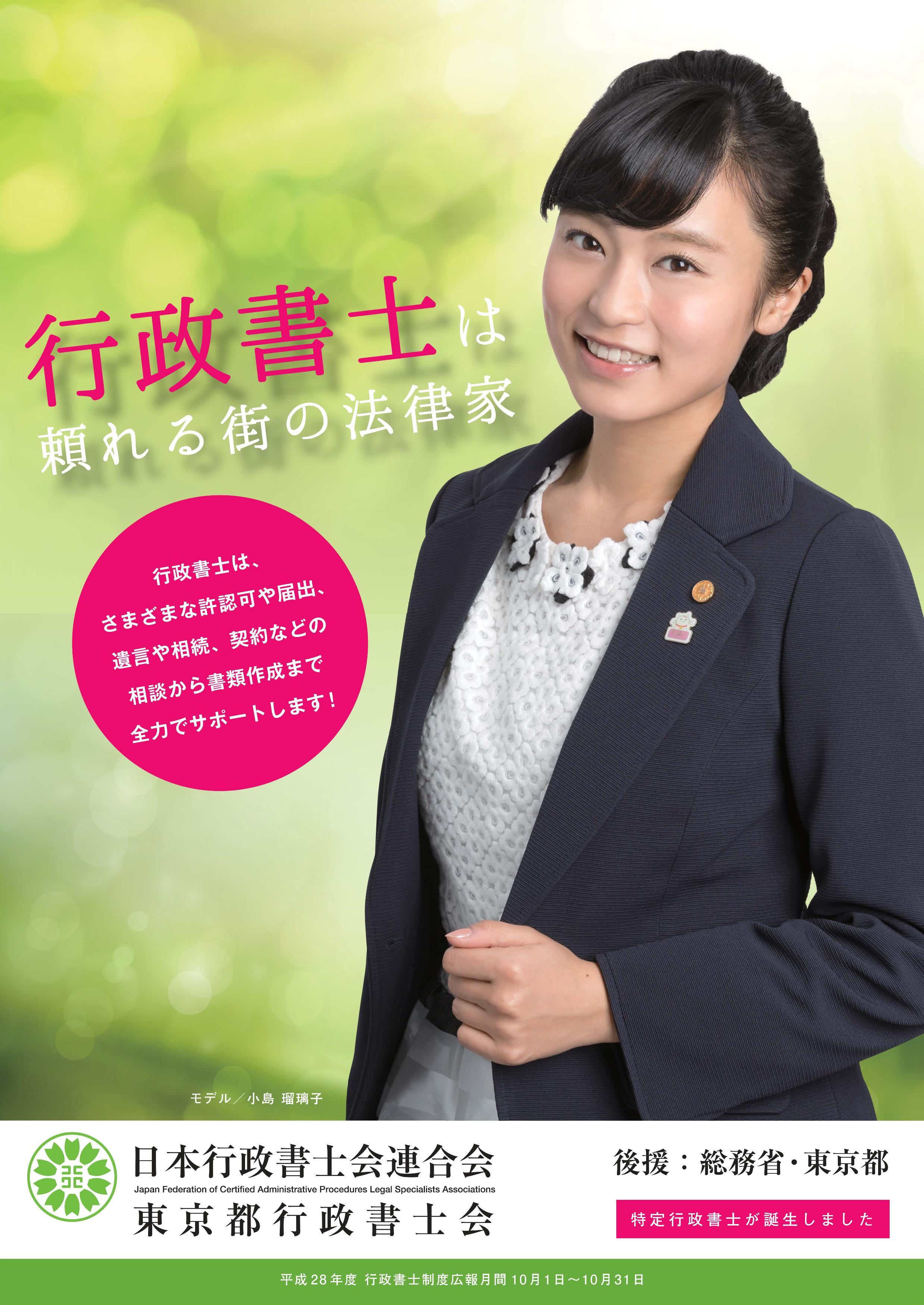 平成28年度行政書士制度PRポスターのイメージ
